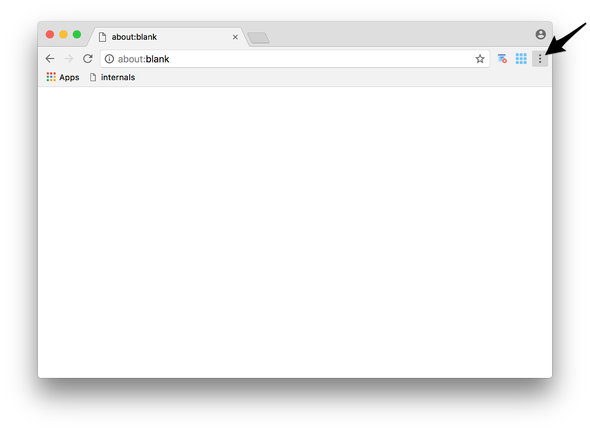 Screenshot of 'More' button in Chrome browser