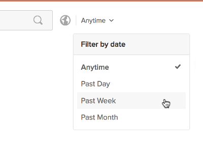 The date filter box in DuckDuckGo